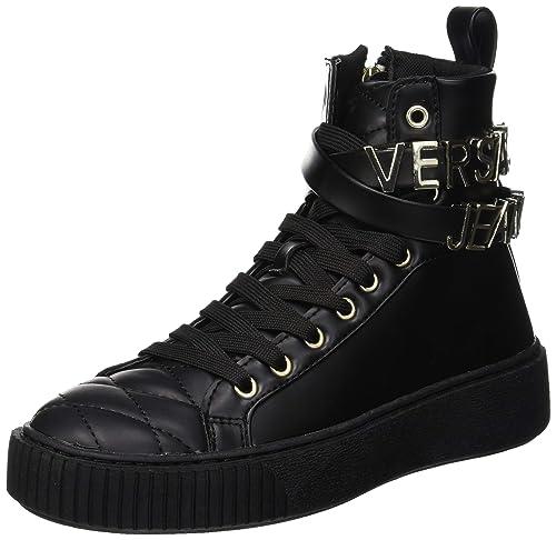 Versace Jeans Women's Scarpe-Donna Hi-Top Trainers, Black ...
