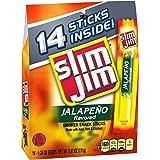 Slim Jim Smoked Meat Sticks, JalapeÃo, 0.28 Oz, 14-Count