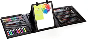 179-Piece Art 101 Kids Double Sided Trifold Easel Art Set