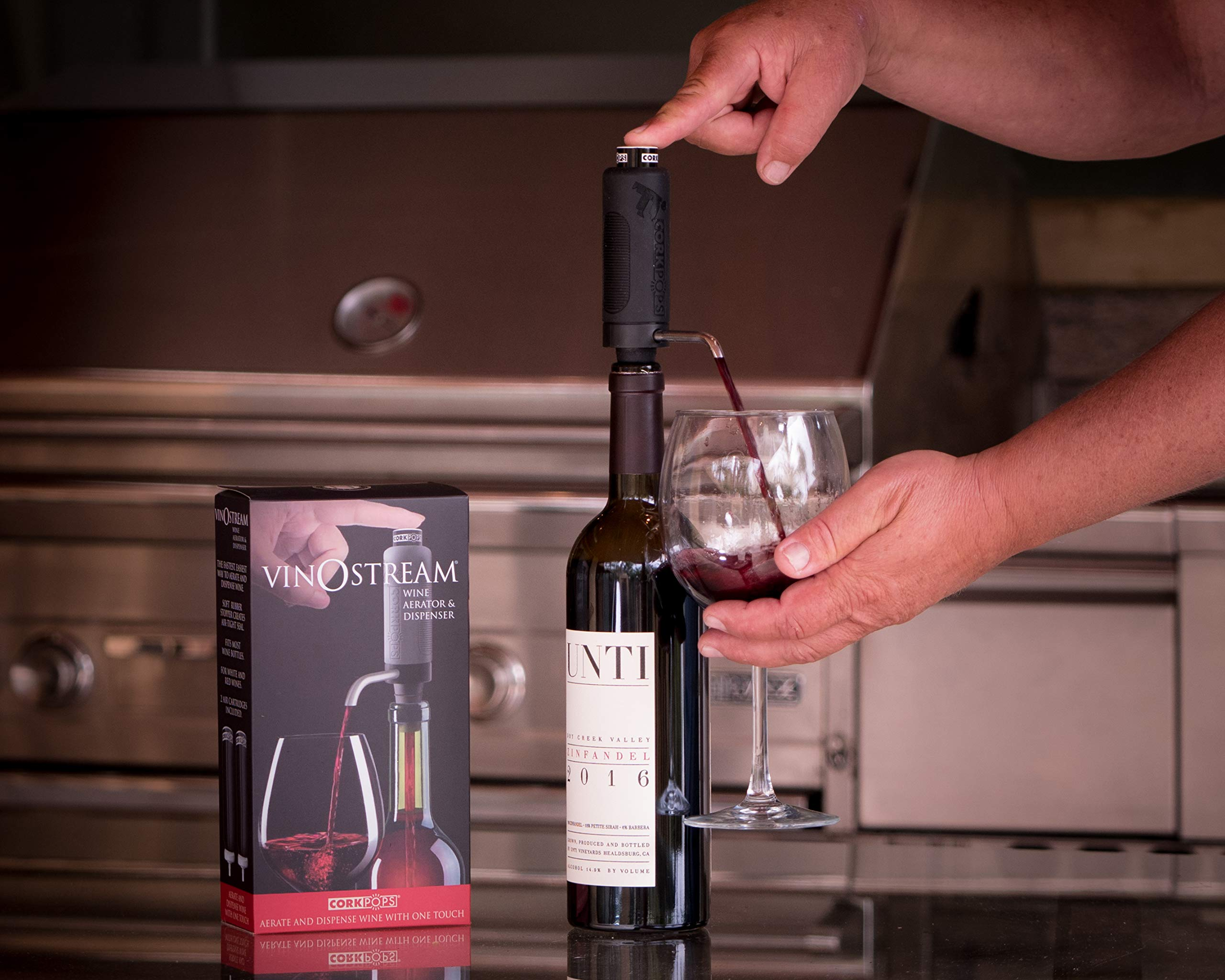 Cork Pops 9'' 2-in-1 Vinostream Wine Aerator & Dispenser by Cork Pops