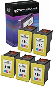 Speedy Inks Remanufactured Ink Cartridge Replacement for HP 110 CB304AN (Tri Color, 5-Pack)