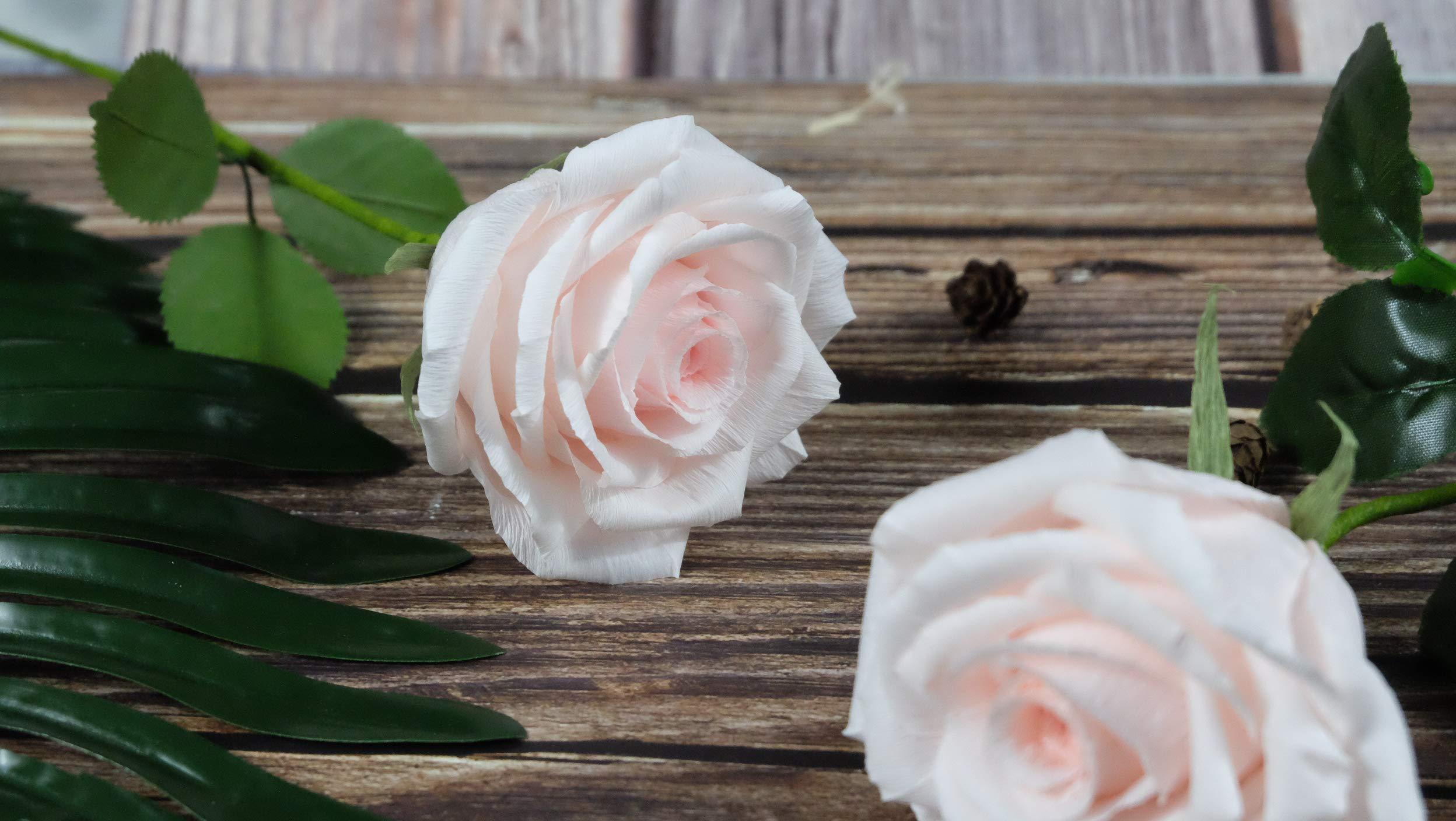 Blush-Pink-Paper-Rose-Handmade-Art-Crepe-Paper-Flowers-for-Home-decorations-Wedding-bridesmaids-bouquets-Single-Long-Stem