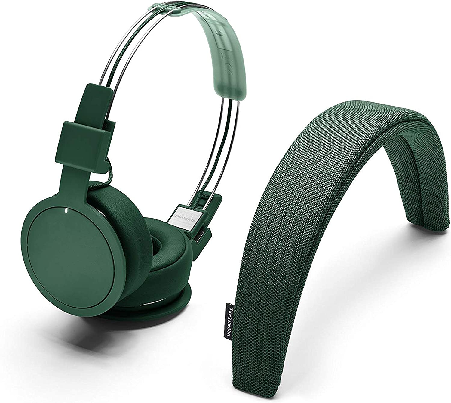 Urbanears - Plattan ADV Wireless Bluetooth Headphones - Tomato Emerald Green