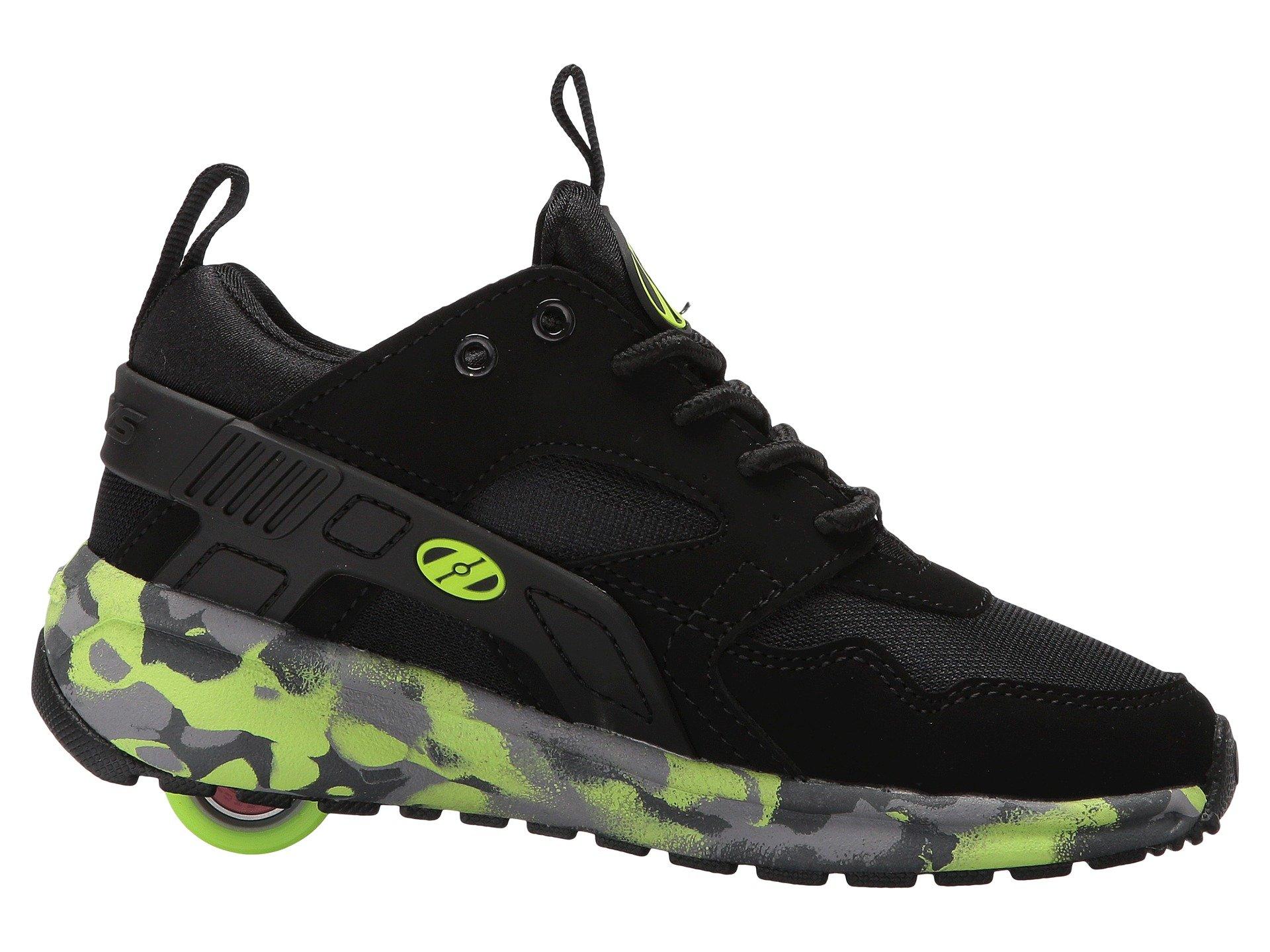 Heelys HE100095H Kid's Force Sneakers, Black/Brightyellow/Confet - 8 by Heelys (Image #8)
