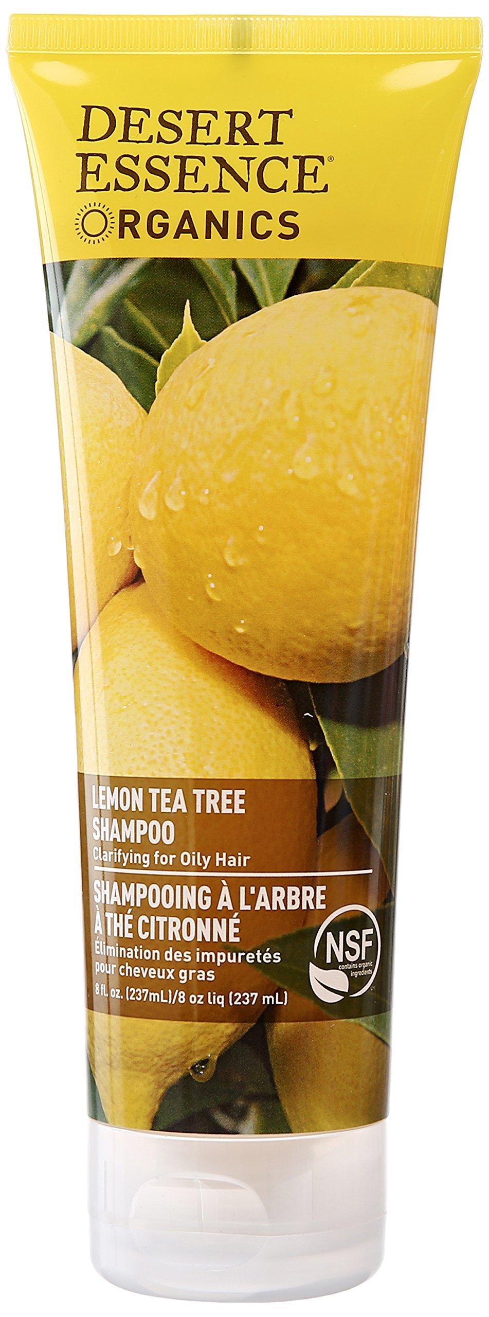 Desert Essence Organics Hair Care Shampoo, for Oily Hair, Lemon Tea Tree, 8 Ounce