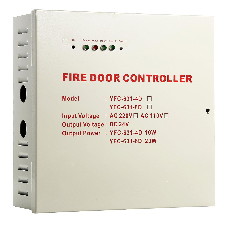 UHPPOTE 電圧 AC110V 火災緊急避難ドアコントローラー 出力電圧 DC24V 20W アクセス制御 アクセスコントロール 防火扉制御装置 B01M4G9X9F