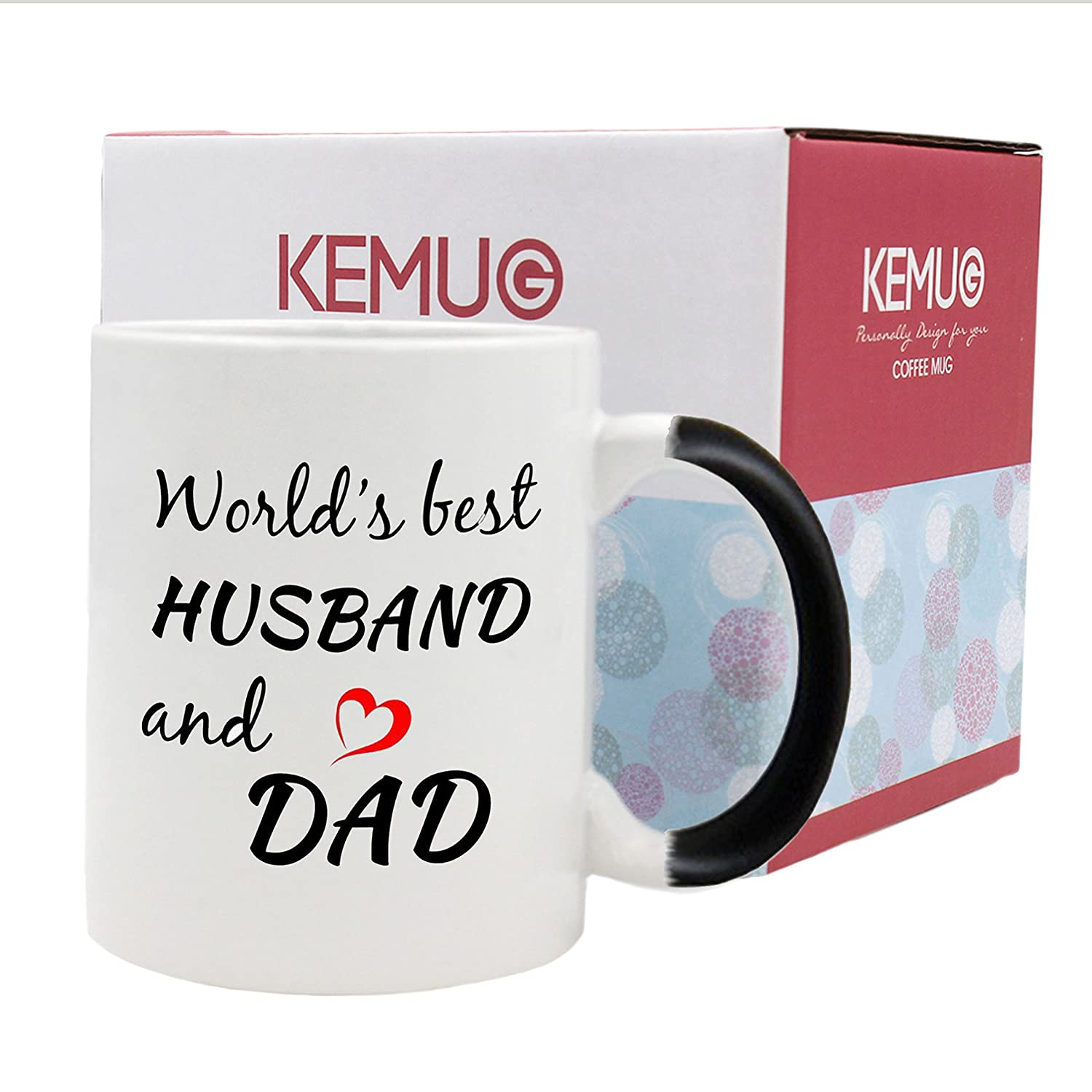 Amazon.com: Color Changing Mugs,World\'s Best Husband And Dad ...