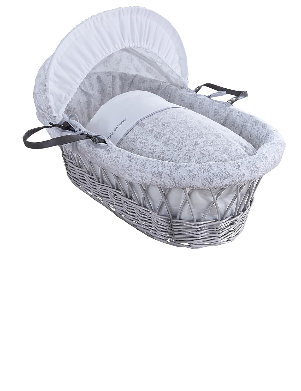 Clair de Lune Sprenkel grau Weidenkörbchen Inc. Bettwäsche, Matratze & verstellbare Kapuze (grau)