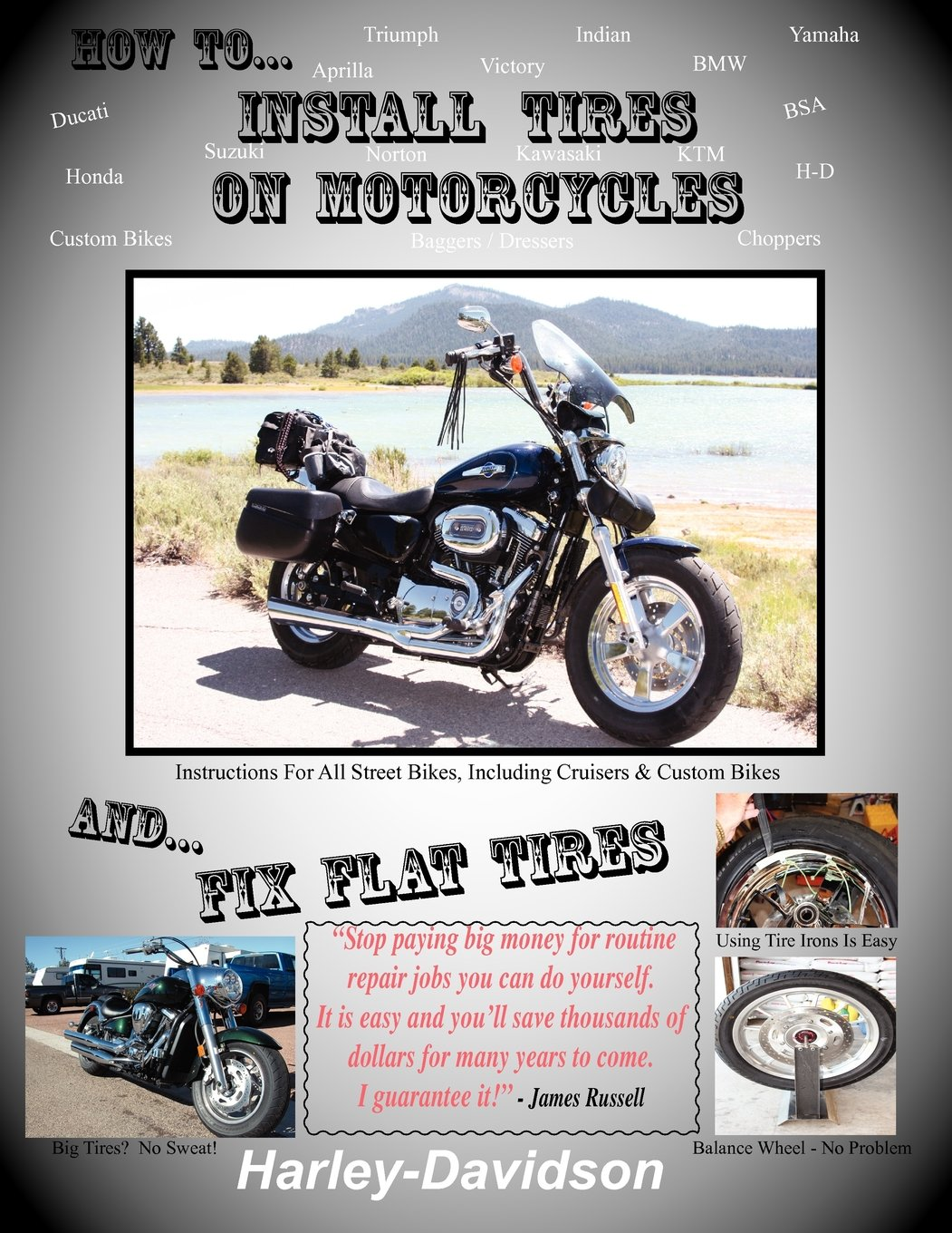 How Install Tires Motorcycles Flat product image