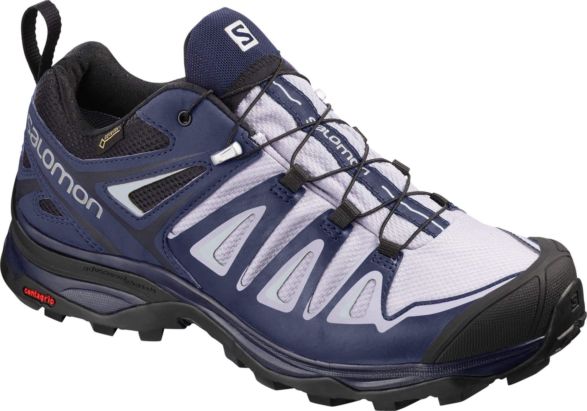 Salomon Women's X Ultra 3 GTX Hiking Shoes, Languid Lavender/Crown Blue/Navy Blazer, 5.5 M US