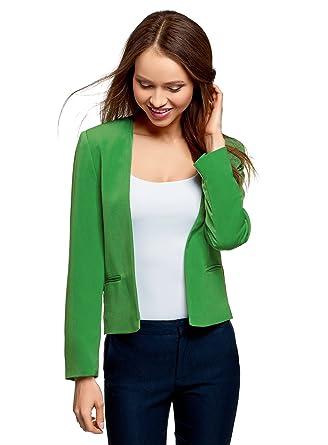 Veste courte femme vert