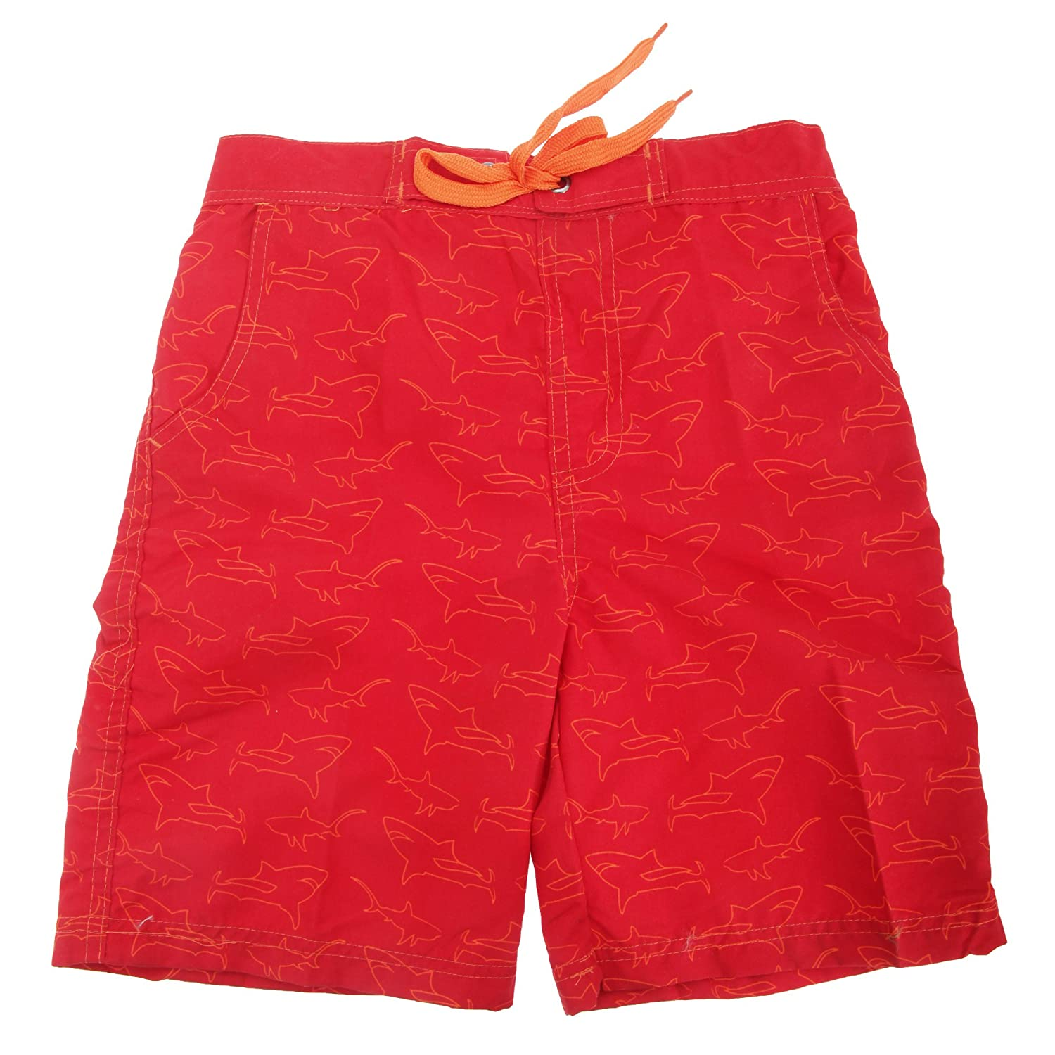 Childrens Boys Shark Print Lined Swim Shorts UTSWIM594_3