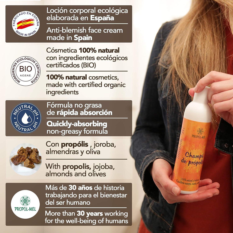 Champu pH neutro con Propoleo - 250 ml. Champu natural certificación BIO, sin sulfatos. Regenera, hidrata, suaviza, da brillo y volumen al cabello; protege el cuero cabelludo.: Amazon.es: Salud y cuidado personal