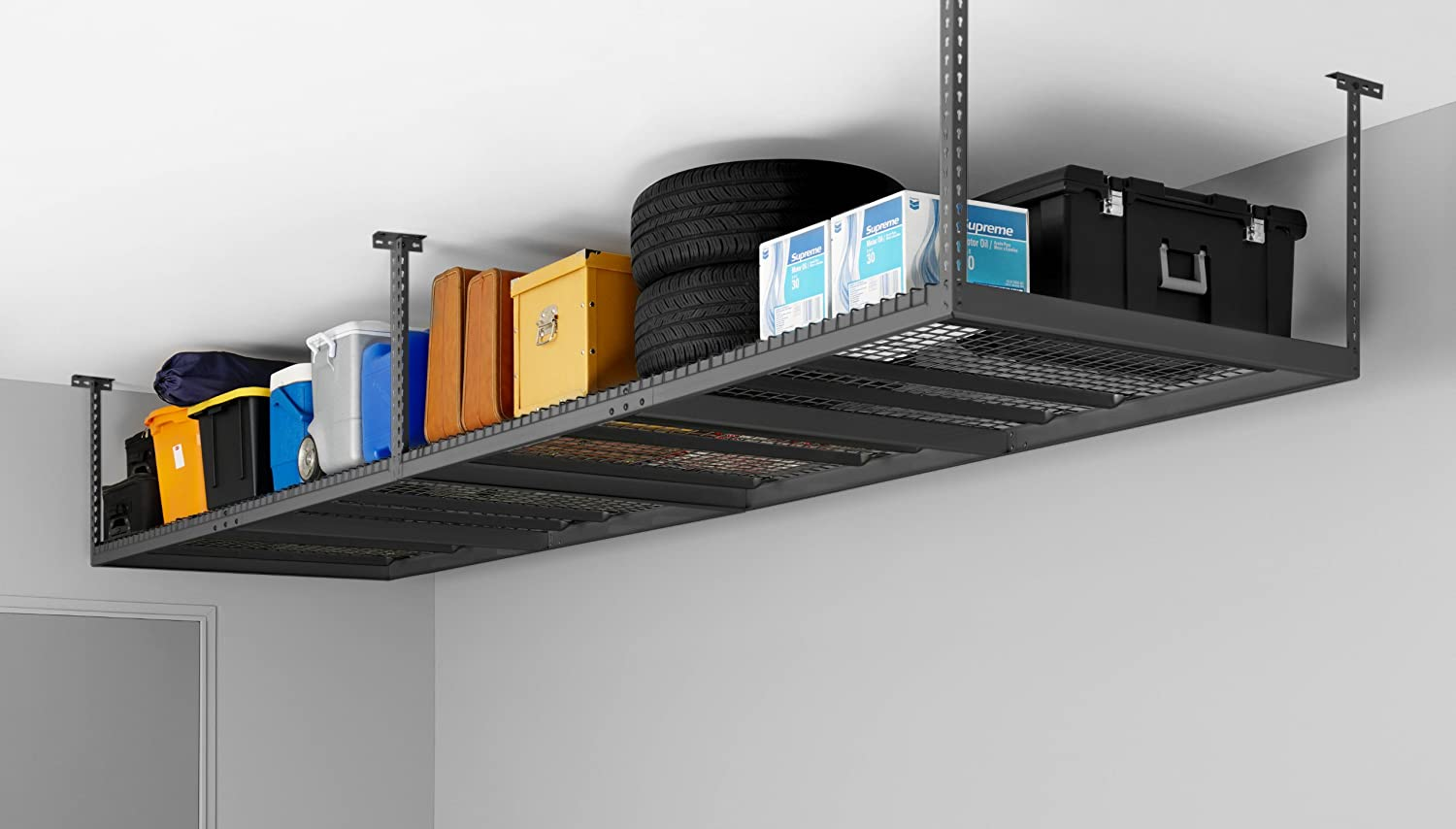 amazon ceiling products storage by com dp feet grey mount garage newage rack