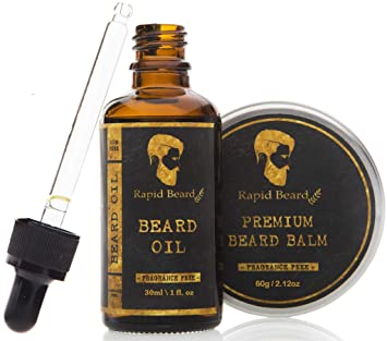 Beard Grooming kit for Men Care - Unscented Beard Oil, Beard Shampoo Wash, Beard Conditioner Softener, Fragrance Free Beard Balm Leave in Wax Butter - for Styling Shaping & Growth Mustache Gift Set