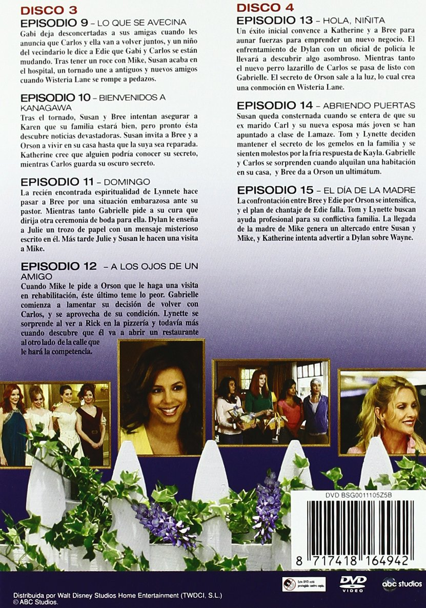 Amazon.com: Mujeres Desesperadas - 4ª Temporada Completa (5 Dvds) (Import Movie) (European Format - Zone B-2): Movies & TV