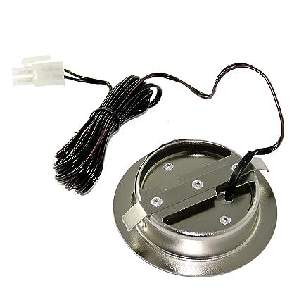 Anschlusskabel mit Stecker Farbe Edelstahl geb/ürstet. LED M/öbeleinbauleuchte Laura Schwenkbar 12Volt 3Watt inkl