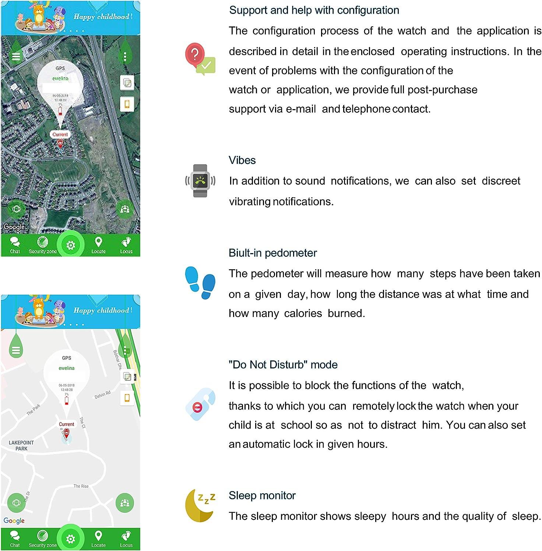 GARETT ELECTRONICS KIDS HAPPY GPS Kids Tracker GPS Smart Watch Children Smartwatch Camera Waterproof GSM Sim Card Touch Screen SOS Call Voice Memo Activity Tracker Purple