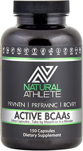 Natural BCAA Glutamine Supplement for Men Women Branched Chain Amino Acids – Optimal 2 1 1 Ratio Workout Recovery, Energy Muscle Growth 150 Pills