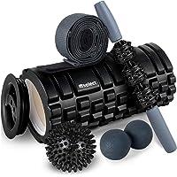 Foam Roller 2-in-1 spiermassage roller 5-delige fitnessset voor diepe weefselspiermassage, massagesticker twee…