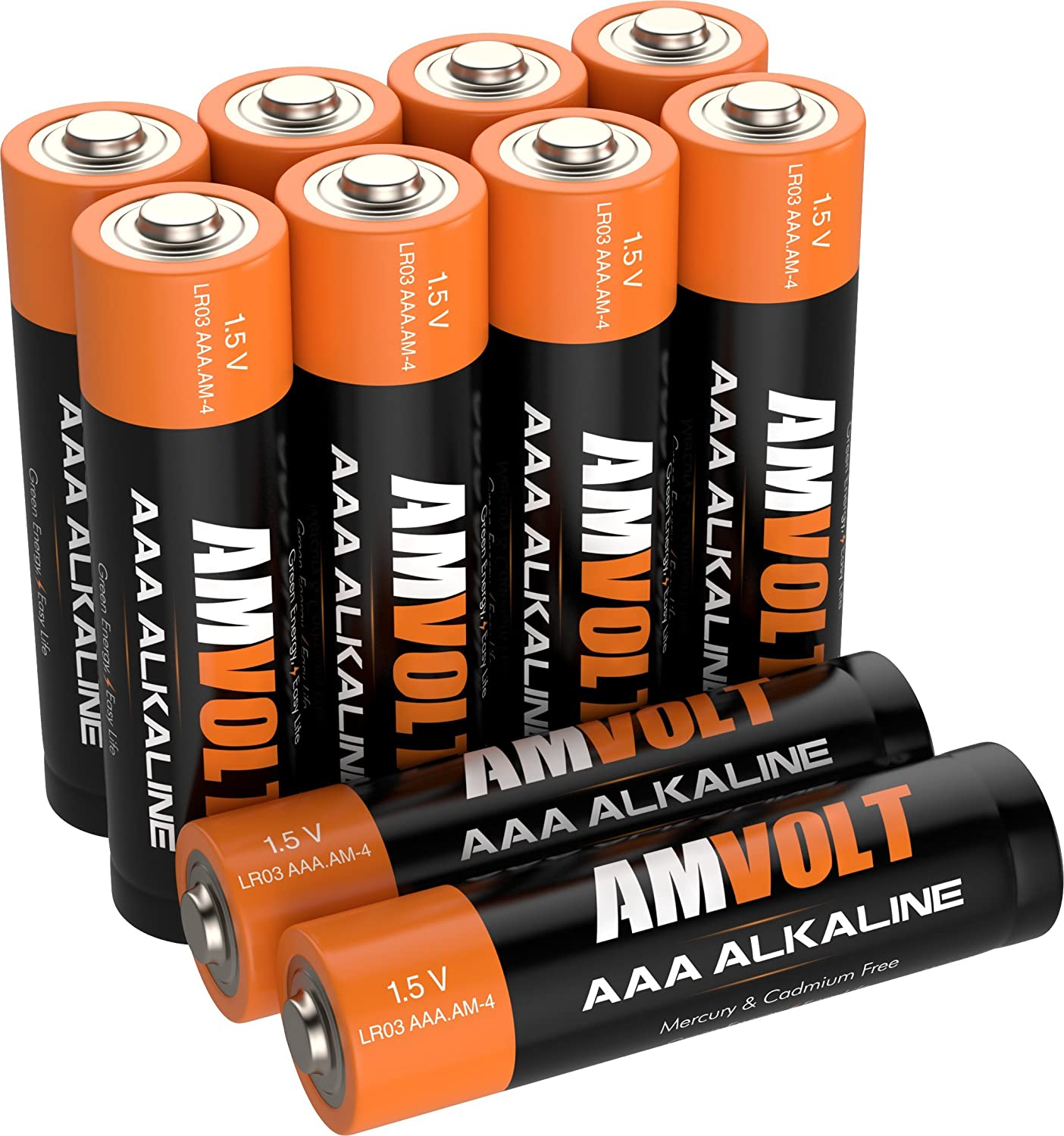 120 Pack AA Batteries LR6 AMVOLT Alkaline Battery 1.5 Volt Non Rechargeable New