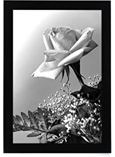 12x18 black picture frame with plexiglas front by americanflat designed to display vertically or horizontally