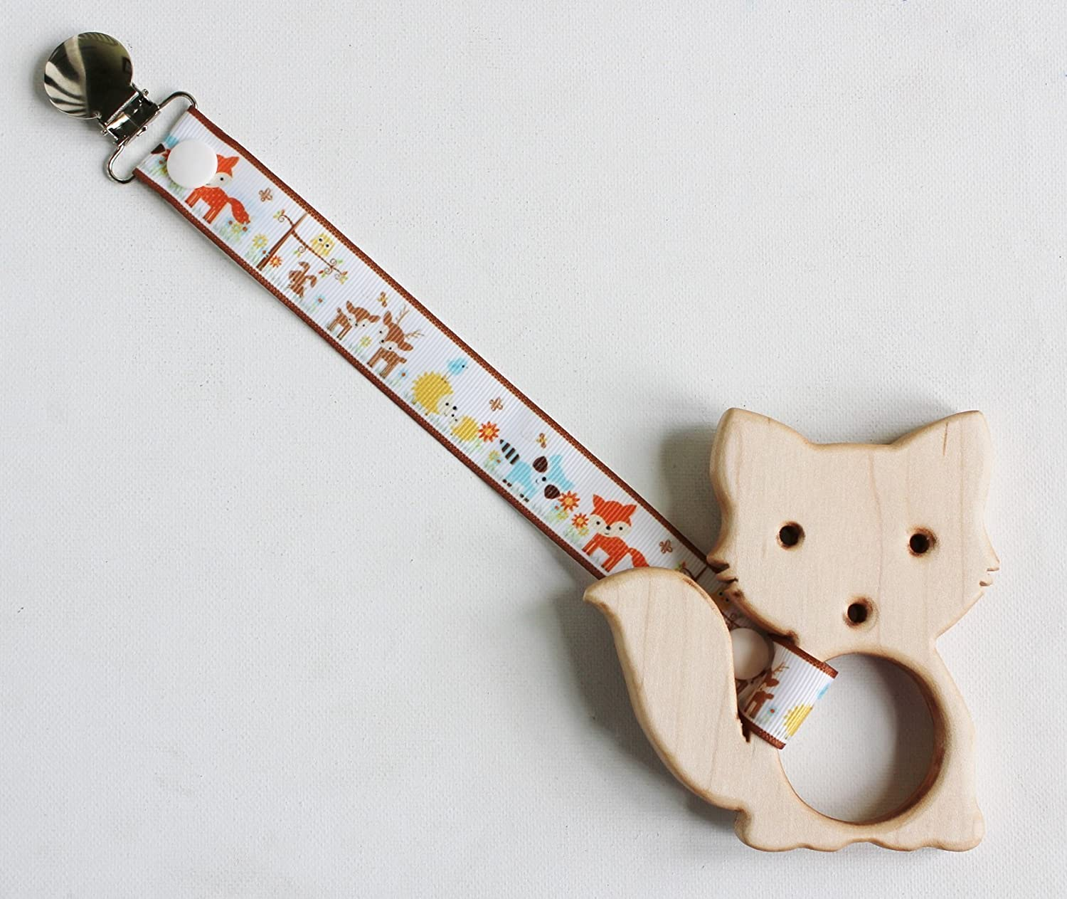 Wooden Fox Teether | Wooden Baby Teether | Organic Teether | Woodland Creatures | Fox Toy | Wooden Fox