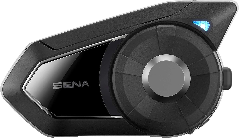 Sena 30K-01D Sistema de comunicación Bluetooth con Mesh Intercom Dual Pack, paquete doble, Negro, Set de 2