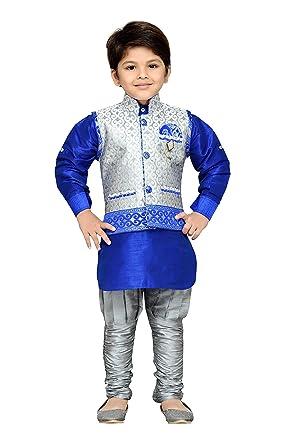 259548835 AJ Dezines Kids Indian Wear Bollywood Style Kurta Pyjama Waistcoat for Baby  Boys