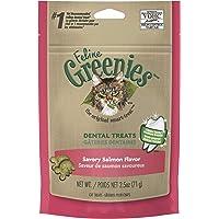 Greenies Feline Dental Cat Treat Salmon Flavour, 71g Bag