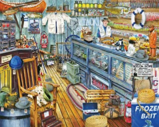product image for Springbok Puzzles - The Bait Shop - 1000 Piece Jigsaw Puzzle - Large 30 Inches by 24 Inches Puzzle - Made in USA - Unique Cut Interlocking Pieces