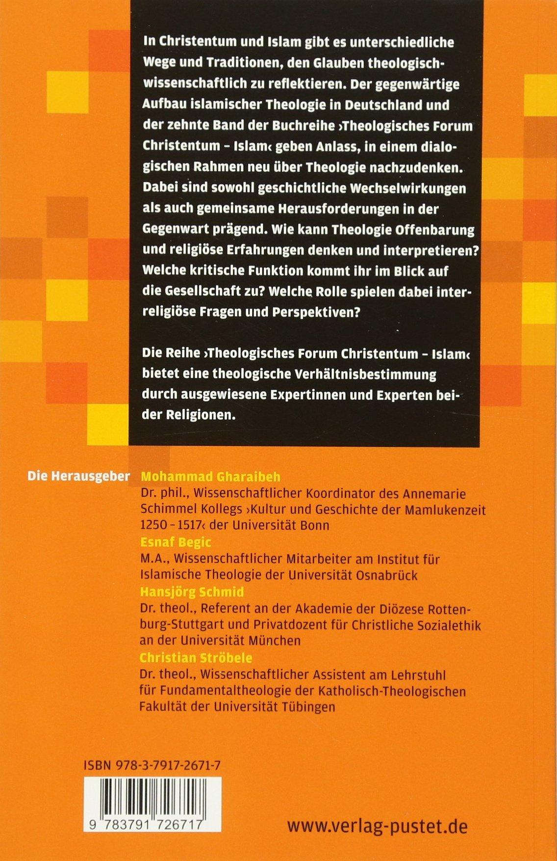 Zwischen Glaube und Wissenschaft: Theologie in Christentum und Islam ...