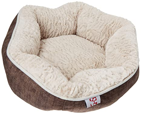 Creative redonda de grupo de mascota Perro Cama Color Beige/Beige Hairy de peluche,