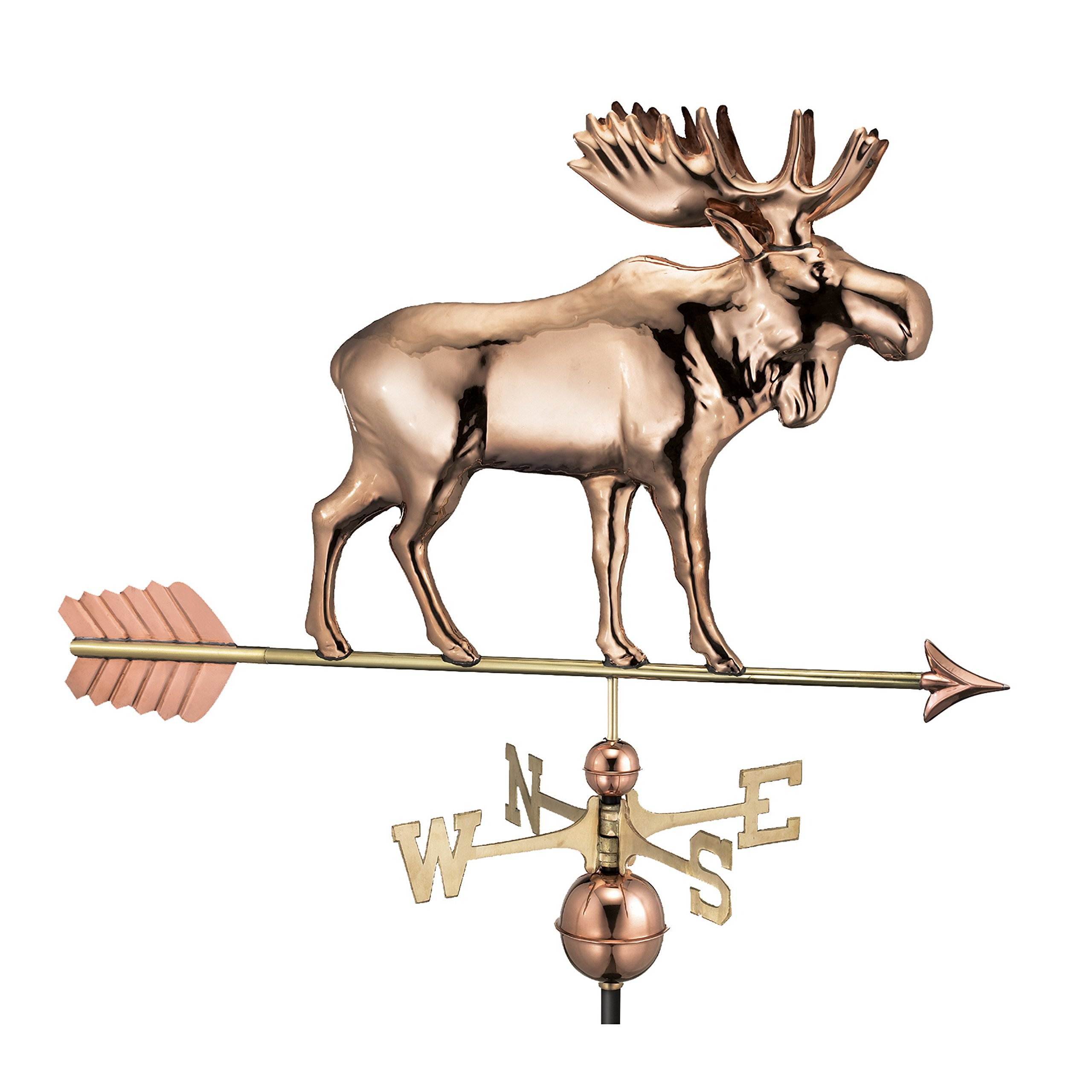 Good Directions Moose Weathervane with Arrow, Pure Copper