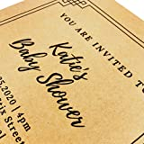 100 Sheets, Brown Kraft Paper, 8.5 x 11 inches, 100 GSM