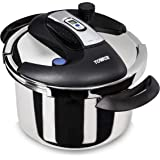Tower Pro One Touch Pressure Cooker, Stainless Steel, 4 Litre