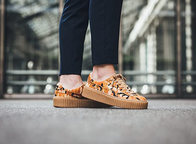 Suede Creepers Camo Athletic Shoe