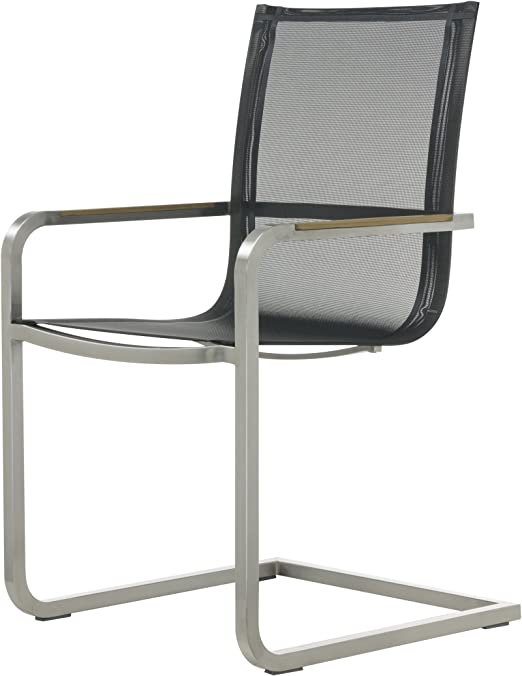 Lux Freischwinger Sessel schwarz: : Küche & Haushalt
