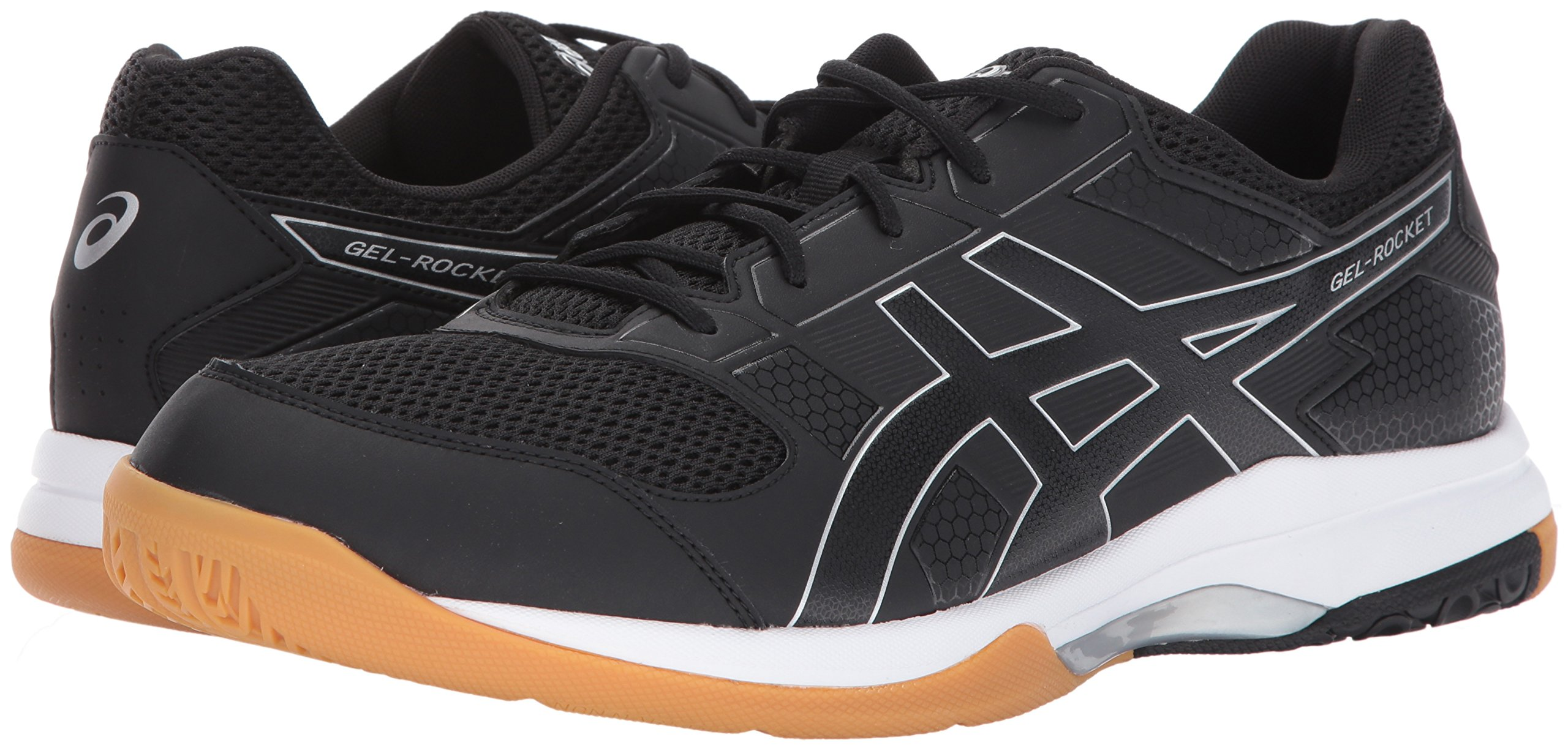 ASICS Mens Gel-Rocket 8 Volleyball Shoe Black/White, 7.5 Medium US by ASICS (Image #6)