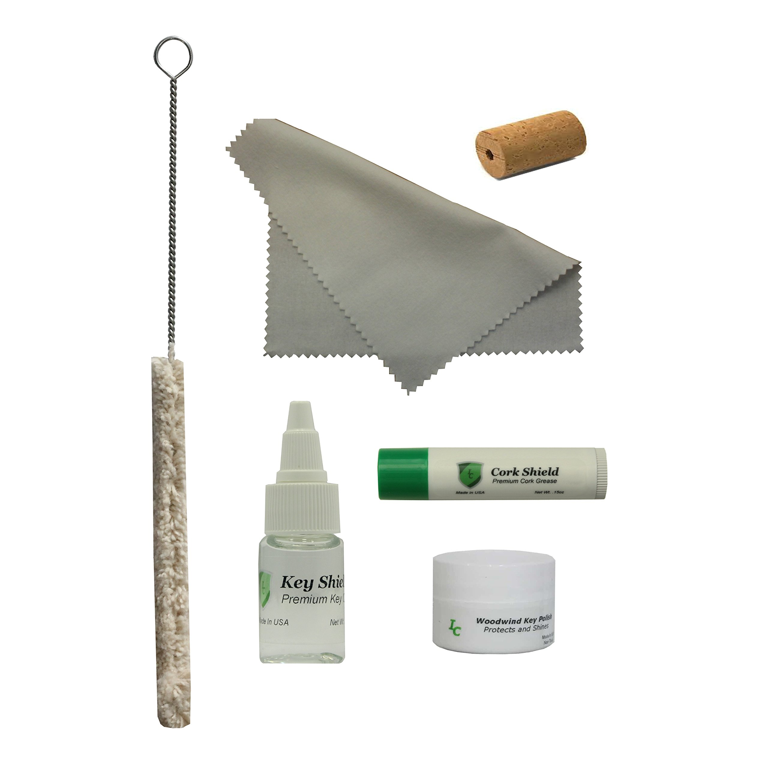 Instrument Clinic Piccolo Care Kit, with Cleaning Swab, Polishing Cloth, Key Oil, Cork Grease, Key Polish, Head Cork
