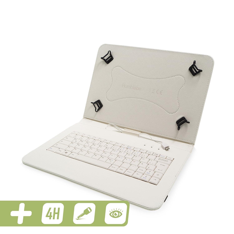 in T/ÜRKIS passend f/ür Modell SM-T560, SM-T561 H/ülle inkl 9.6 Zoll und AntiReflexfolie deutscher QWERTZ Tastatur f/ür Samsung Galaxy Tab E matt