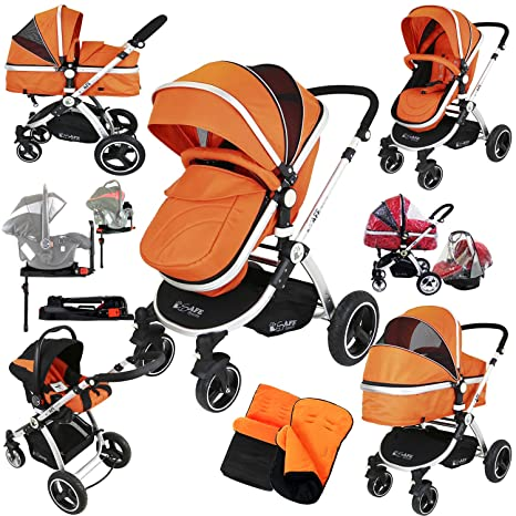 i-Safe sistema + Base Isofix, color naranja Trio sistema de ...