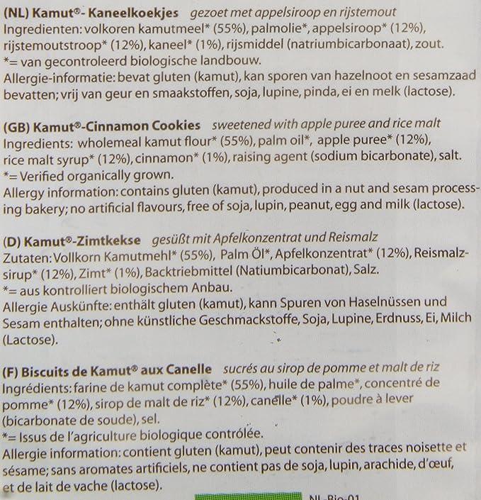 Biospirit Galletas de Kamut y Canela de Cultivo Ecológico - 175 gr ...