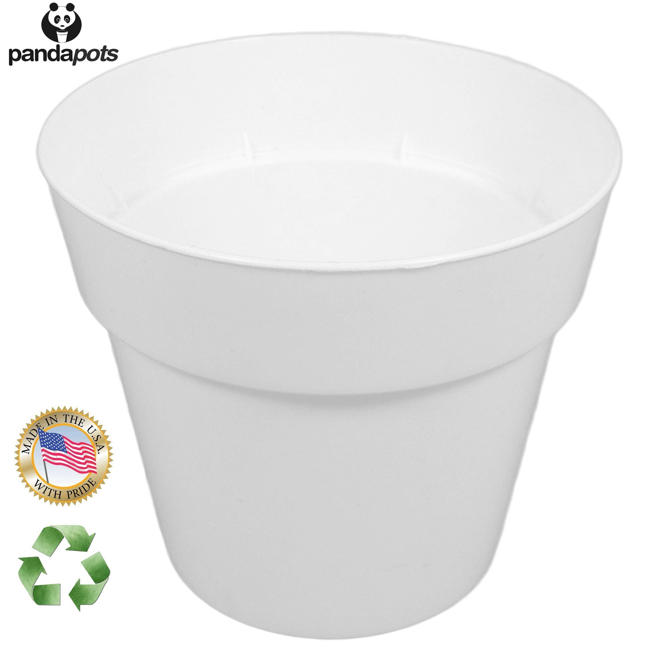 Panda Pots 50 Plant Pots - 3 Inch Diameter - Perfect for Succulents - 100% Recycled Plastic - Made in USA - Strong, Reusable - By trade;