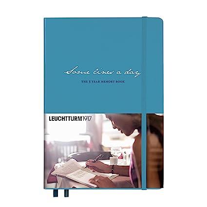 Leuchtturm Some Lines 5yr Memory Book Nordic Blue