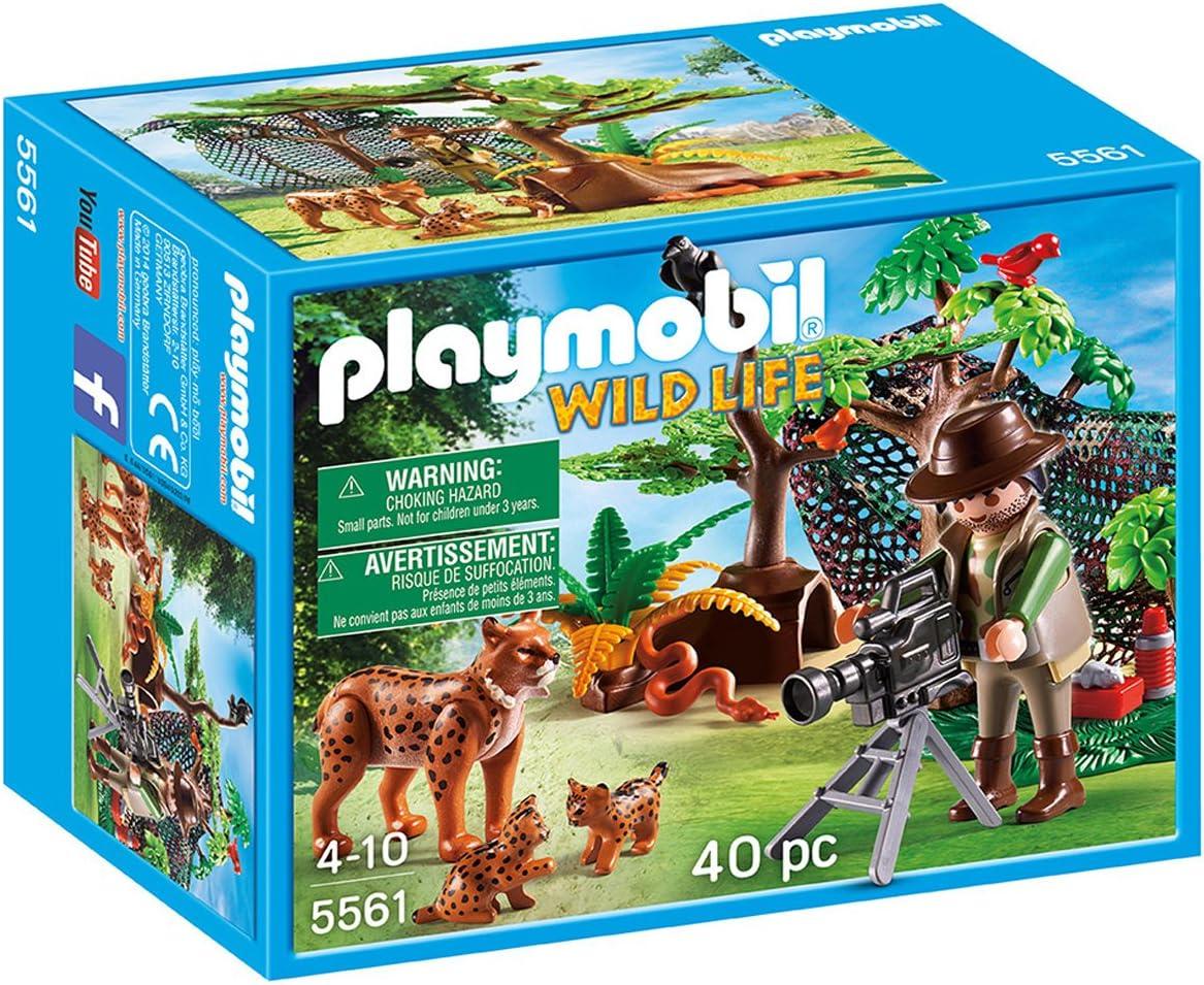 Playmobil 5561 - Familia de lince y filmador