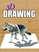 Time Lapse 3D Drawing of a Walking Wolf [OV]
