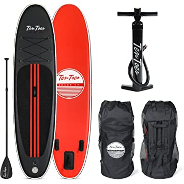 top selling Ten Toes Weekender Inflatable Stand Up Paddle Board Bundle