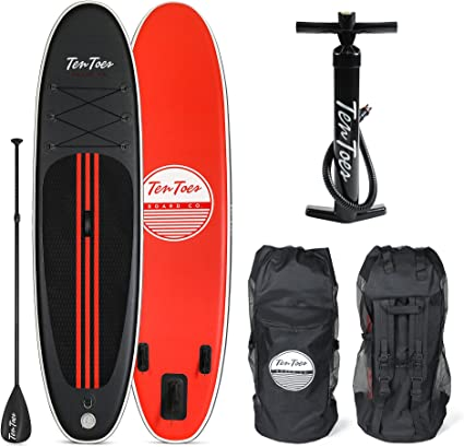 aluminum paddle Retrospec Weekender 10 Inflatable Stand Up Paddleboard Triple Layer Military Grade PVC iSUP Bundle w// paddle board carrying case removable nylon fins manual pump /& cell phone case