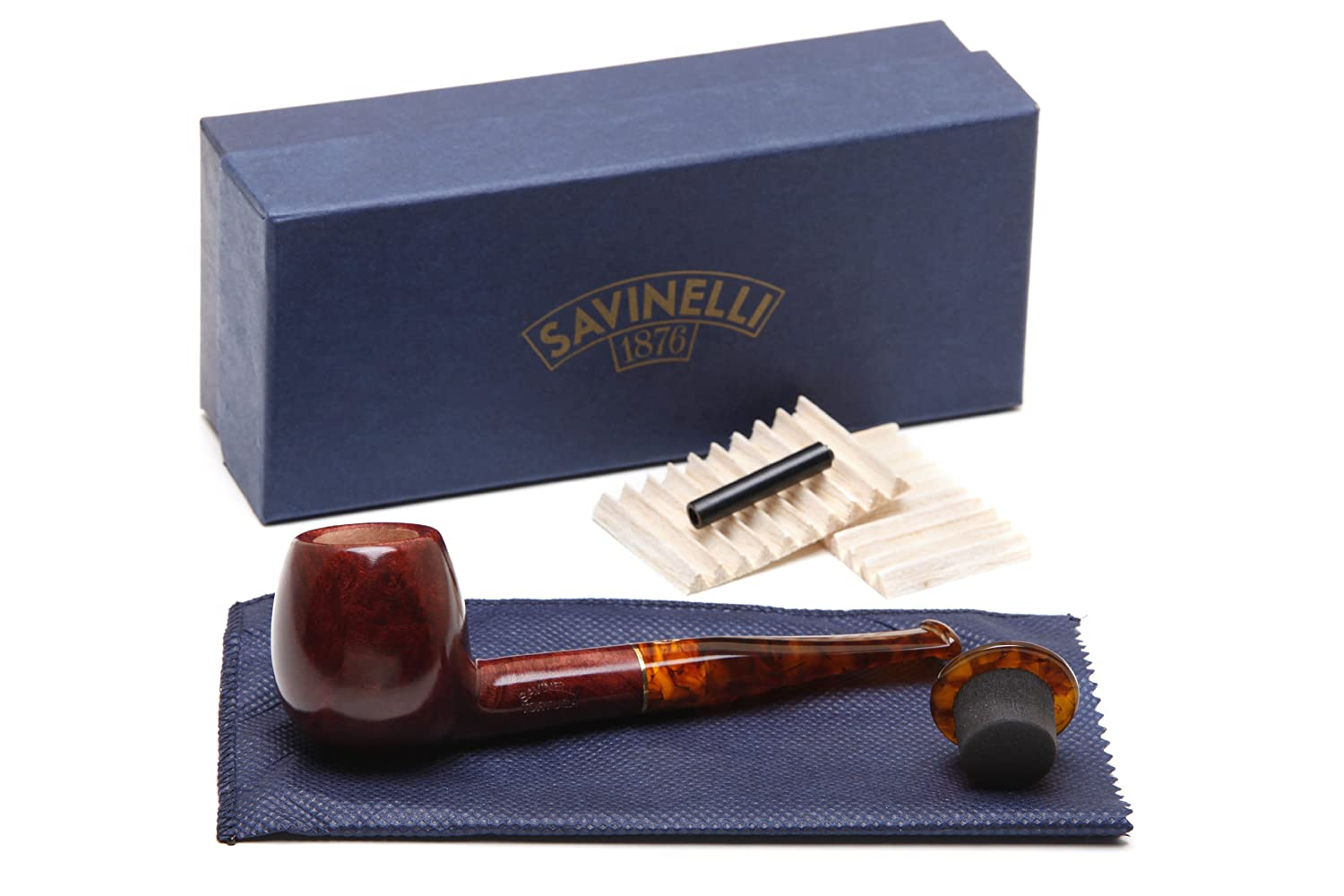 Amazon.com: Savinelli Tortuga Smooth Briar 207 Tobacco Pipe: Health & Personal Care
